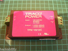 Traco TPM 10212C - Mini Switching PSU - 100 / 240 VAC - Output +/- 12VDC