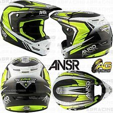Answer 2017 Adult Helmet Evolve 3 Black White Hi-Viz XS X-Small Motocross Enduro