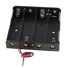 2 Pcs Black Plastic Battery Holder Case w Wire for 4 x 18650 14.8V AD
