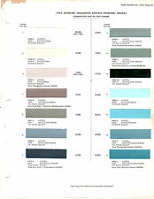 1963 FORD GALAXIE LINCOLN MERCURY 63 EXTERIOR & INTERIOR PAINT CHIPS DUPONT 5