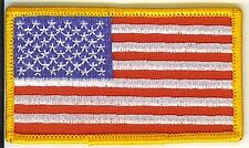 LOT OF 2 - USA FLAG - STARS AND STRIPES EMBROIDERED PATCH
