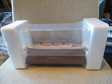 NEW 1935 Normandie SS Ship Model Figurine with Display Case FREE SHIPPING