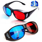 New Red Blue 3D Glasses Frame For Dimensional Anaglyph Movie TV DVD Game