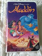 "Walt Disney ""Aladdin"" Black Diamond Classic  VHS Video #1662 Vintage 1993"