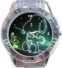 Snoopy & Woodstock In Laser-Stainless Steel Analogue Watch For Unisex-New