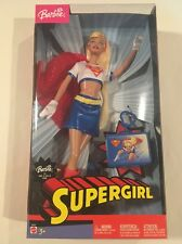 Barbie as Supergirl Doll B5837 DC Comics Hero Red Cape Keychain 2003 New In Box!