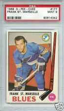 1969 O-Pee-Chee #177 Frank St. Marseille PSA 9 (MINT) * Wing * St. Louis Blues *