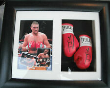 Tyson Fury Mini Signed Boxing Gloves Framed