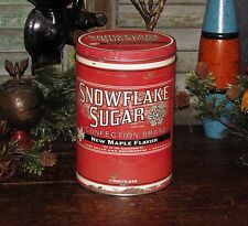 Primitive Antique Vtg Style French Country Shabby Maple Sugar Can Chic Repro Tin