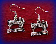 SINGER EARRINGS Sewing Machine Jewelry - Sewing QUILTING Featherweight style