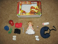 Ideal Toy Corporation Uneeda 1965 PeeWee Doll & PeeWee Tote & original outfits