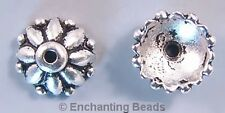 10mm Beauty Bead Caps Pewter Lead-Free P132 (8)
