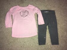 Baby Girl 2T Toddler Jumping Beans 2 Piece Pink Outfit Set! Good Cond!