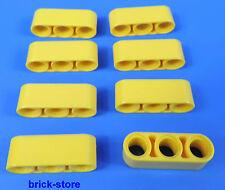 LEGO technic Nr- 4153707/3 Agujeros amarillos Barra de Brazo elevación/8 Piezas
