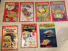 Lot of 7 MAGIC SCHOOL BUS level book SCHOLASTIC Germs  LOST IN SNOW Winter