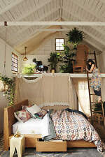 RARE Anthropologie Sutherland by NANCYBIRD Queen Duvet Cover 100% Linen NEW