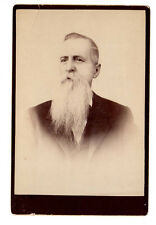 Unusual Bizarre Cabinet Card Photo Man with huge beard Mustache No ID.