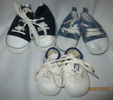 Vintage baby shoes 3 pairs toddler babies Size 0, 3-9 months, 4 inches