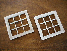 1/12th Scale DOLLS HOUSE 9 Pane Window set - Crafsman made - Unused