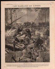 WWI Soldat Pickelhaube Bataille de l'Yser Ocean Liner Hospital 1914 ILLUSTRATION