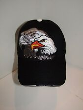 Native American Eagle Indian Native Pride Silver Shadow Black Ball Cap Hat
