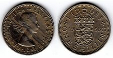 1956 12d 1s ONE SHILLING twelve pence Queen Elizabeth II ENGLISH England (a)
