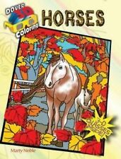 3-D Coloring Book--Horses by Marty Noble (2014, Paperback)
