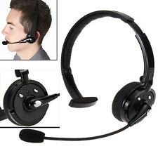 Noise Cancelling Wireless Handsfree Bluetooth Boom Mic Headset Fr Trucker Driver