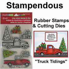 Stampendous ~ Truck Tidings ~ Rubber Stamps & Cutting Dies ~ Christmas, Tree