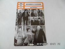 CARTE FICHE CINEMA 1959 ARCHIMEDE LE CLOCHARD Jean Gabin Darry Cowl J.Carette