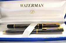 Waterman Black and grey Fountain Pen and Ball Point Pen Set Paris France(# 279)