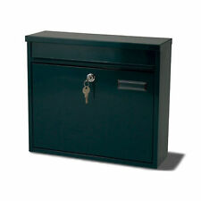 G2 Ouse Green Metal Steel Post Mail Letter Box Postbox Mailbox