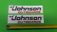 Johnson Outboards marine engine decals sickers pair