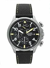 HD OS PS6053X1 Pulsar Mens Aviator Style Chronograph Rubber Strap Watch