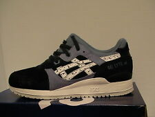 Asics running shoes gel-lyte iii size 8 us men indian ink/white new with box