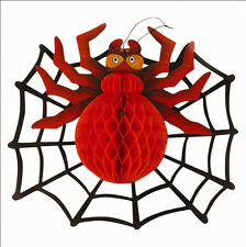 3D Spider and Web Decoration Halloween  Spooky Room Wall Scene Setter