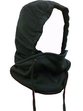 UNISEX SNOOD 4 in 1 WATER PROOF FLEECE SCARF BLACK HOOD BALACLAVA NECK WARMER