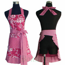 100% Cotton Vintage Apron - Retro Apron - Kitchen Apron - Ruffled Cooking Apron