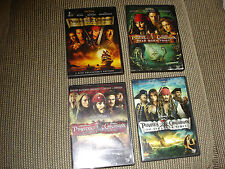 PIRATES OF THE CARIBBEAN DVD LOT OF ALL 4 FILMS