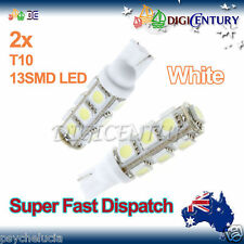 2x T10 WHITE 13SMD 5050 LED for Car Side Light Parker Bulb Lamp DC 12V