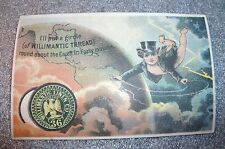 graphic victorian trade card advertising Willimantic Thread