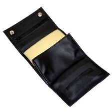 Black Rexine Leatherette Hand Rolling Tobacco Sifter Pouch and Paper Holder