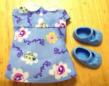 Kelly Doll Clothes *SALE* HTF Baby Blue Spring Flowers Dress & Shoes* (Q)