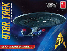 AMT 1/1400 USS Enterprise NCC-1701-D CLEAR PLASTIC MODEL KIT 955