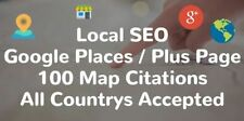 100 Map Citations Your Google Places G+ Page | Local Page Ranking SEO Results!