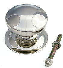 Heavy Nickel-Plated Victorian Centre Door Knob - Vintage Pull Antique Front Door