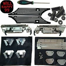 Saddlebag Hard Bag Hardware Kit Black Billet Latch Cover Rubber for Harley 93-13