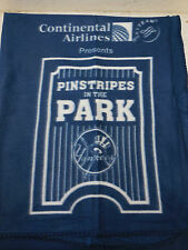 Continetal Airline NY New York YANKEES Pinstripe In The Park Blue Fleece Blanket