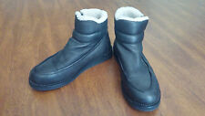 Silent by Damir Doma Shearling Leather Side Zip Boots Black Size 43 JULIUS 7