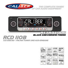 Retro radio de coche KFZ Classic Oldtimer Youngtimer USB SD CD mp3 aux in Black